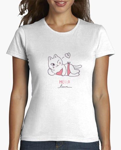 Comprar CAMISETA GATITA SEXY - HELLO LOVE - Tienda Online Camisetas Personalizadas - Retro Vintage Divertidas - Hombre Mujer - Envíos Baratos o Gratis