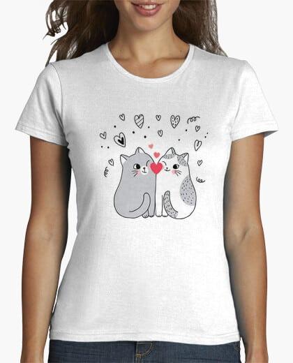 Comprar Camiseta Gatos Enamorados Corazón - Car Lovers - Tiendas Online Camisetas personalizadas - Envíos Baratos o Gratis 24/48H